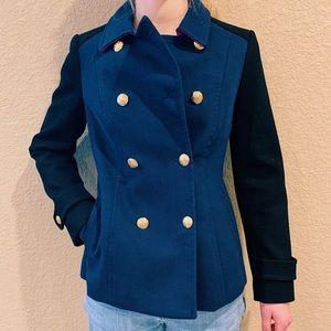 Banana Republic Black & Navy Dress Coat